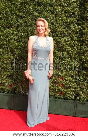 vLOS ANGELES - SEP 12:  Wendi McLendon-Covey at the Primetime Creative Emmy Awards Arrivals at the Microsoft Theater on September 12, 2015 in Los Angeles, CA - stock photo
