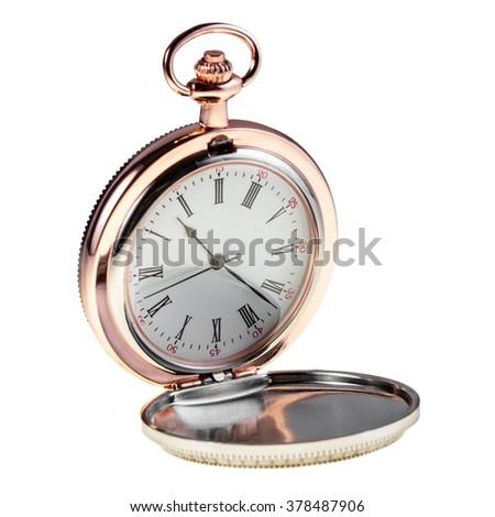 vntage antique pocket watch. - stock photo