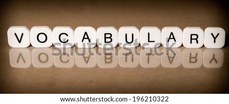Vocabulary concept - stock photo