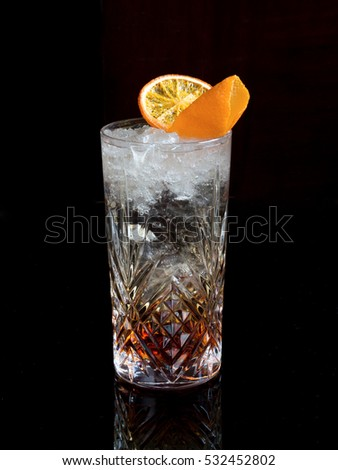 Vodka cocktail with martini and soda
