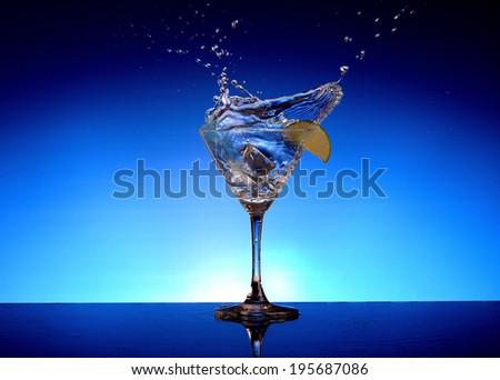 Vodka in a glass of white - stock photo