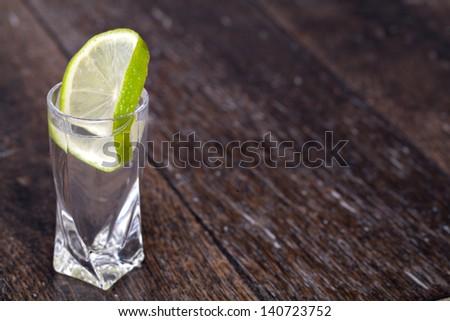 vodka on a white background - stock photo
