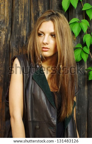 Vogue style photo of a handsome girl - stock photo