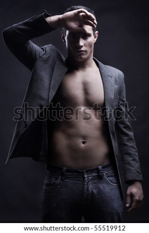 Vogue style photo of a young man