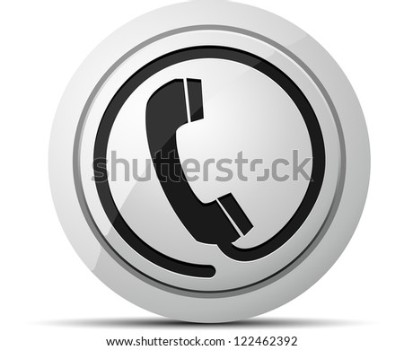 Voice contact button - stock photo