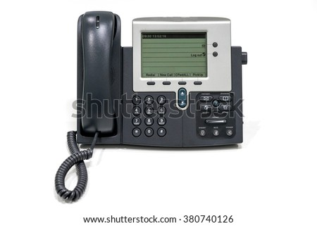 voice over ip phone , isolate on white background