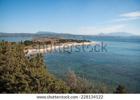 Voidokila bay, Peloponnesus, Greece