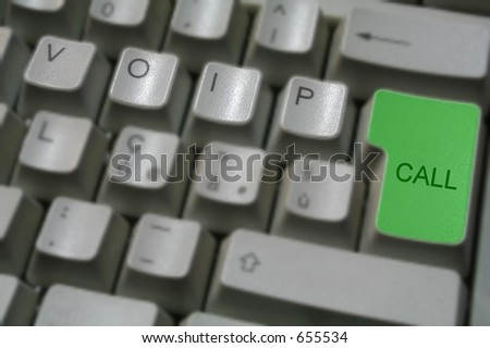 voip keyboard 7 - stock photo