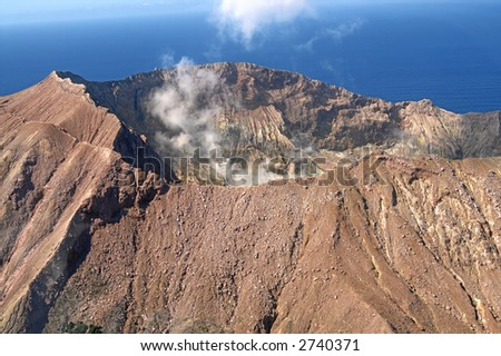 Volcanic Crater - stock photo