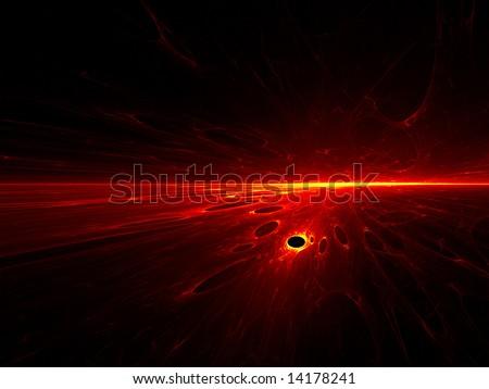 Volcanic Horizon - Fractal Design - stock photo