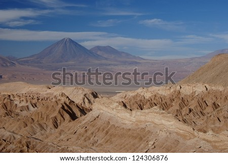 volcanic landscape in chile