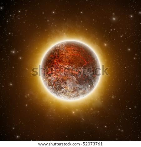 Volcanic Planet - stock photo