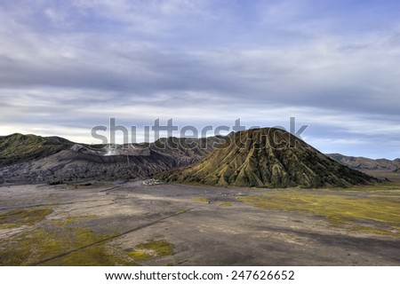 Volcanic plateau of mount Bromo, Java, Indonesia