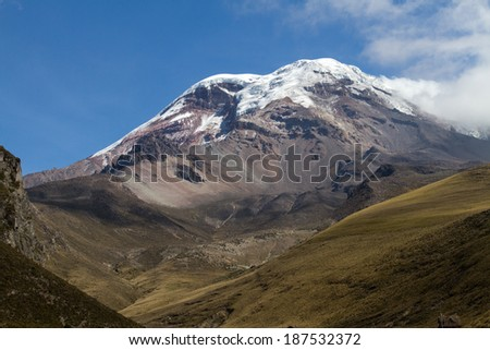 Volcano Chimborazo - stock photo