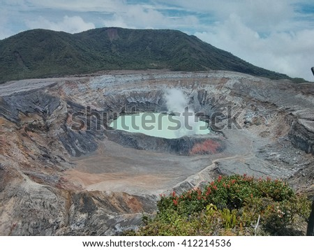 Volcano in Costa Rica - stock photo