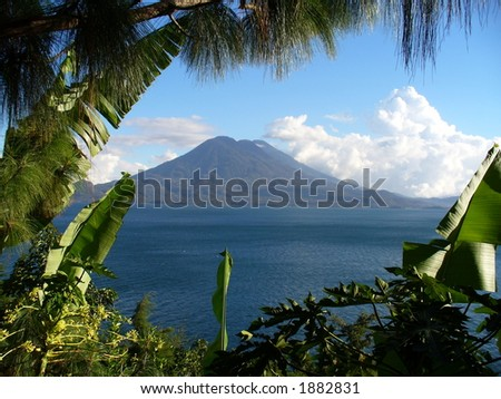 Volcano in Guatemala - stock photo