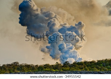 Volcano in Hawaii - stock photo