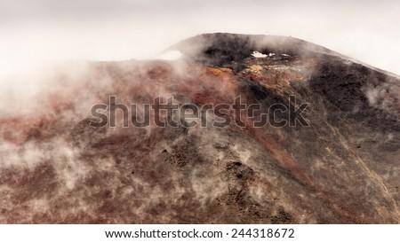 Volcano Ngauruhoe - stock photo