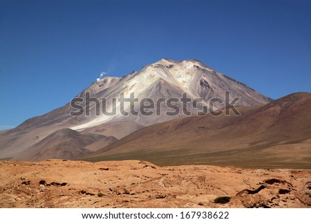 Volcano Ollague, Bolivia, South America