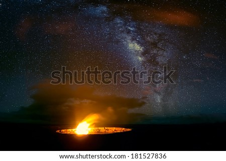 Volcanoes National Park, Big Island, HI - stock photo