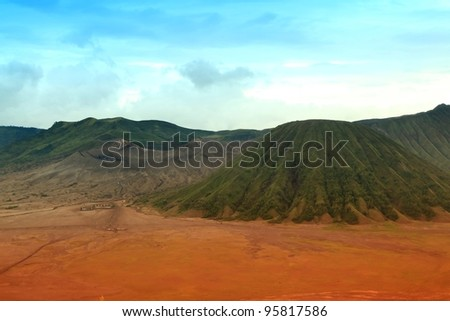 Volcanoes of Bromo National Park, East Java, Indonesia - stock photo