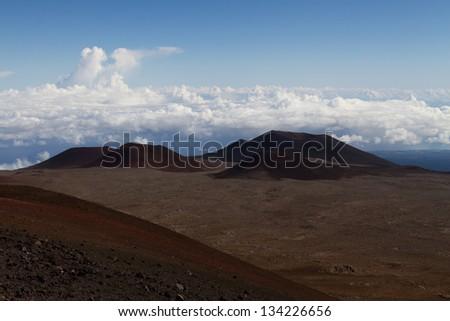 Volcanoes on Mauna Kea, Hawaii - stock photo