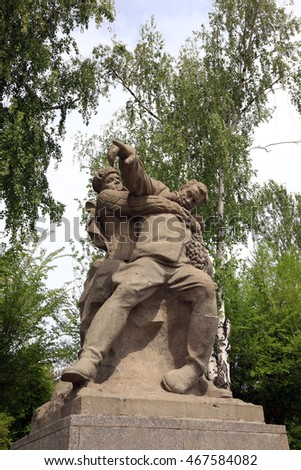 Volgograd, Russia - May 6, 2016: Celebration of the 75th anniversary of the Great Victory in the Great Patriotic War, festivities at Mamayev Kurgan 6 May 2016 in the hero-city of Volgograd.