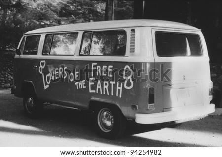 VOLKSWAGEN BUS, c. 1978/79 - stock photo