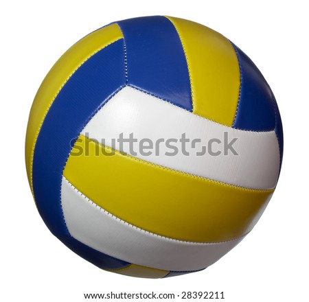 volley ball on white background with clipping path