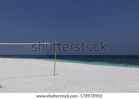 Volleyball at the beach on a beautiful Island is always fun, Maldives