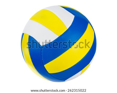 Volleyball ball isolated on a white background
