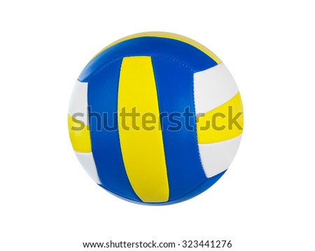 Volleyball ball isolated on a white background - stock photo