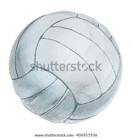 volleyball ball watercolor - stock photo