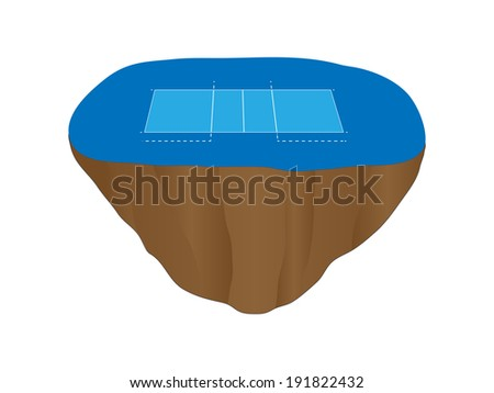 Volleyball Court Floating Island 4 - stock photo