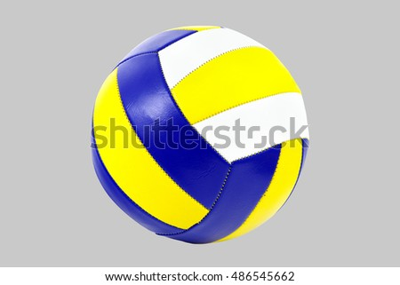 Volleyball isolated on gray fon