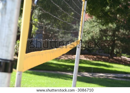 VolleyBall Net Side View - stock photo