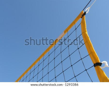 Volleyball net. Space for text. - stock photo