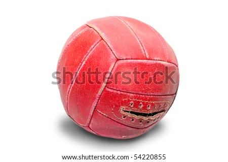 volleyball on a white background - stock photo