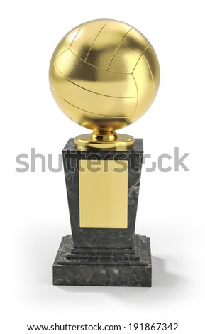 Volleyball trophy - stock photo