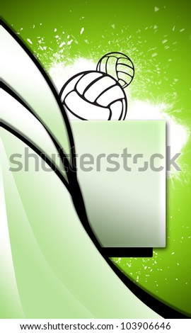Volleyballs or handball background with space (poster, web, leaflet, magazine) - stock photo