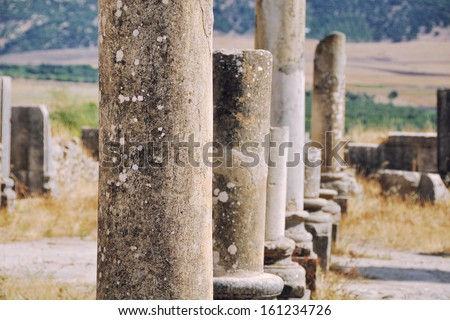 Volubilis is the best preserved Roman site in Morocco. It was declared a UNESCO World Heritage