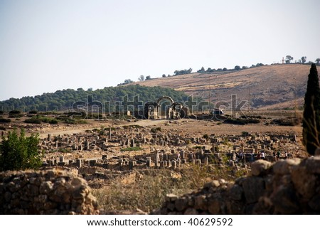 Volubilis Roman old city, Morocco, and it is declared a UNESCO World Heritage site.
