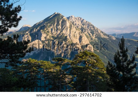 Volujak Mountain, Sutjeska National Park - stock photo
