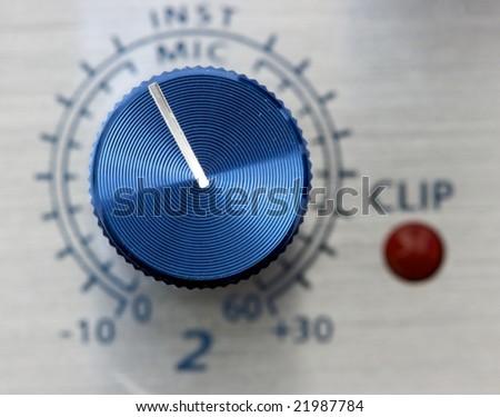 Volume adjustment knob - stock photo
