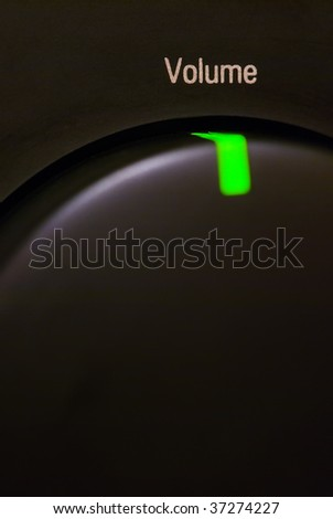 Volume control button - stock photo