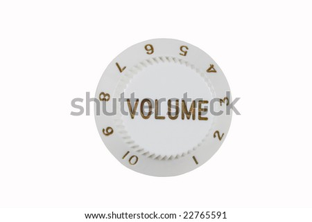 Volume knob from guitar isolated on white - stock photo