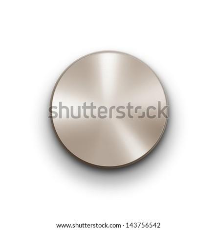 Volume knob over white - stock photo