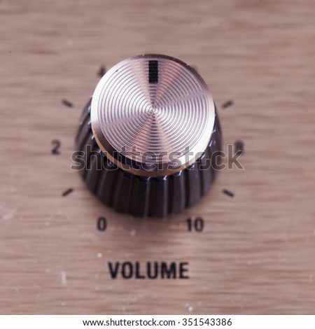 Volume switch, close up, focus over top, square image - stock photo