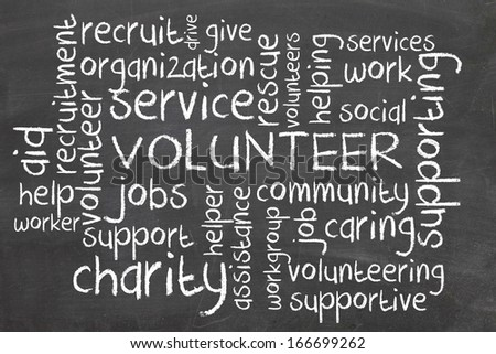 Volunteer - stock photo
