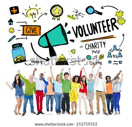 Volunteer Charity and Relief Work Donation Help Concept - stock photo